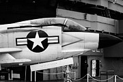 Manhatan Prints - McDonnell F3H2N F3B f3 demon on the flight deck on display at the Intrepid Sea Air Space Museum Print by Joe Fox