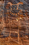 Ancient Indian Art Metal Prints - McKee Springs Petroglyph - Utah Metal Print by Gary Whitton