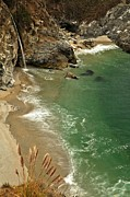 Big Sur Ca Metal Prints - McWay Falls Metal Print by Adam Jewell