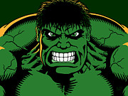 Hulk Digital Art Posters - Mean n green Poster by IKONOGRAPHI Art and Design