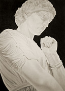 Greek Sculpture Drawings Framed Prints - Medea Framed Print by Lisa Henry