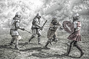 Fight Digital Art Posters - Medieval battle Poster by Jaroslaw Grudzinski