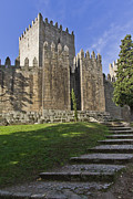 Medieval Castle Photos - Medieval castle keep by Lusoimages  