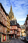 Old Houses Metal Prints - Medieval Vannes France Metal Print by Elena Elisseeva