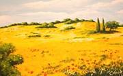Mediterranean Landscape Print by Edit Voros