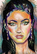 Megan Fox Posters - Megan Poster by Carey Alcott