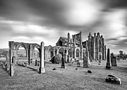 Mono Prints - Melrose Abbey Print by Grant Glendinning