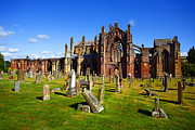 Craig Brown Art - Melrose Abbey Scotland by Craig Brown