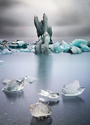 Greenhouse Effect Prints - Melting glacier ice Iceland Print by Dirk Ercken