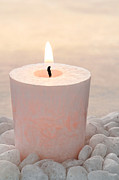 Bed Prints - Memorial Candle Print by Olivier Le Queinec