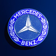 Mercedes Benz. Framed Prints - Mercedes-Benz 190SL Emblem Framed Print by Jill Reger