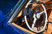 Mercedes Benz. Framed Prints - Mercedes-Benz 190SL Steering Wheel Framed Print by Jill Reger