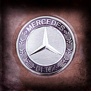 Mercedes Photos - Mercedes-Benz 6.3 AMG Gullwing Emblem by Jill Reger