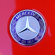 Mercedes Benz. Framed Prints - Mercedes-Benz 6.3 Gullwing Emblem Framed Print by Jill Reger