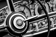 Mercedes Benz Photos - Mercedes-Benz Steering Wheel Emblem by Jill Reger