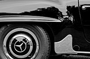 Mercedes Photos - Mercedes-Benz Wheel Emblem by Jill Reger