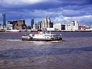 Fab Four Photo Prints - Mersey Ferry and Liverpool Waterfront Print by Steve Kearns