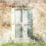 Red Bricks Prints - Mesh Window Print by Marsha Charlebois