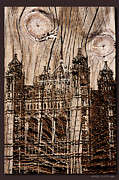 Grain Mixed Media - Metal England Castle by Debra     Vatalaro