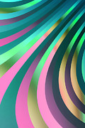 Metallic Swirls 2 Print by Hakon Soreide
