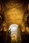 Carving Posters - Mezquita Cathedral Interior in Cordoba Poster by Artur Bogacki