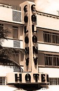 Motel Art Prints - Miami Beach - Art Deco Print by Frank Romeo