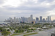 Willie Harper - Miami Skyline at Sun...