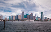 Miami Heat Posters - Miami Skyline Poster by Rene Triay Photography