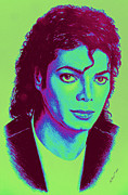 The Jacksons. Posters - Michael Poster by Andrew Read