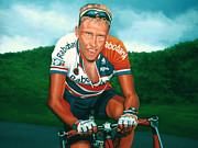 Tour De France Paintings - Michael Boogerd  by Paul  Meijering