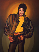 Music Entertainer Posters - Michael Jackson Poster by Paul  Meijering