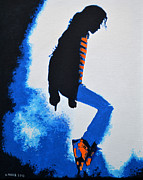 Pop Star Painting Originals - Michael Jackson by Victor Minca