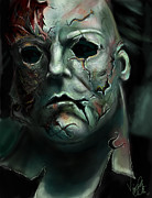 Michael Framed Prints - Michael Myers Framed Print by Vinny John Usuriello