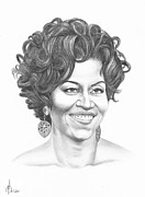 First Lady Drawings - Michelle Obama by Murphy Elliott