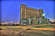 Michigan Digital Art Posters - Michigan Central Station Detroit MI Poster by B And G Art