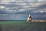 Indiana Pyrography Prints - Michigan City Indiana Lighthouse Print by Lynne Dohner