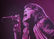 Mick Jagger Painting Metal Prints - Mick Jagger Metal Print by Paul  Meijering