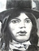 Celebrity Portraits Pastels - Mick by Judy Kay