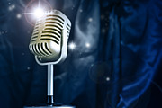 Superstar Photo Prints - Microphone Print by Les Cunliffe