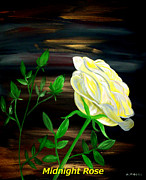 Beauty Mark Painting Framed Prints - Midnight Rose Framed Print by Mark Moore