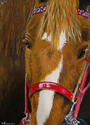 Horse Head Paintings - Miere by Kayleigh Semeniuk