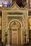 Aya Sofya Prints - Mihrab in the Hagia Sophia Print by Artur Bogacki