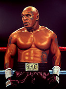 Basket Ball Painting Metal Prints - Mike Tyson Metal Print by Paul  Meijering