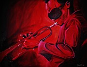 Miles Davis Painting Originals - Miles by Torrey Franklin
