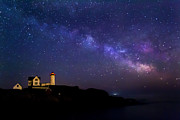 Cape Neddick Lighthouse Posters - Milky Way Poster by Jatinkumar Thakkar