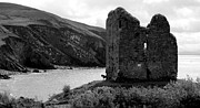 Minard Prints - Minard Castle in Kerry Print by Barbara Walsh