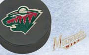 Puck Prints - Minnesota Wild Print by Joe Hamilton