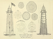 Atlantic Drawings Posters - Minots Ledge Lighthouse Poster by Jerry McElroy