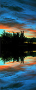Sunset Framed Prints Digital Art Posters - Mirror Mirror Poster by Kevin Bone