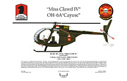 U.s Army Digital Art Framed Prints - Miss Clawd IV OH-6A Loach Framed Print by Arthur Eggers